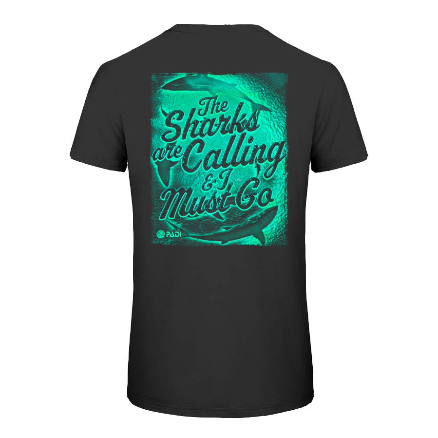 Unisex Sharks Are Calling Tee - Black
