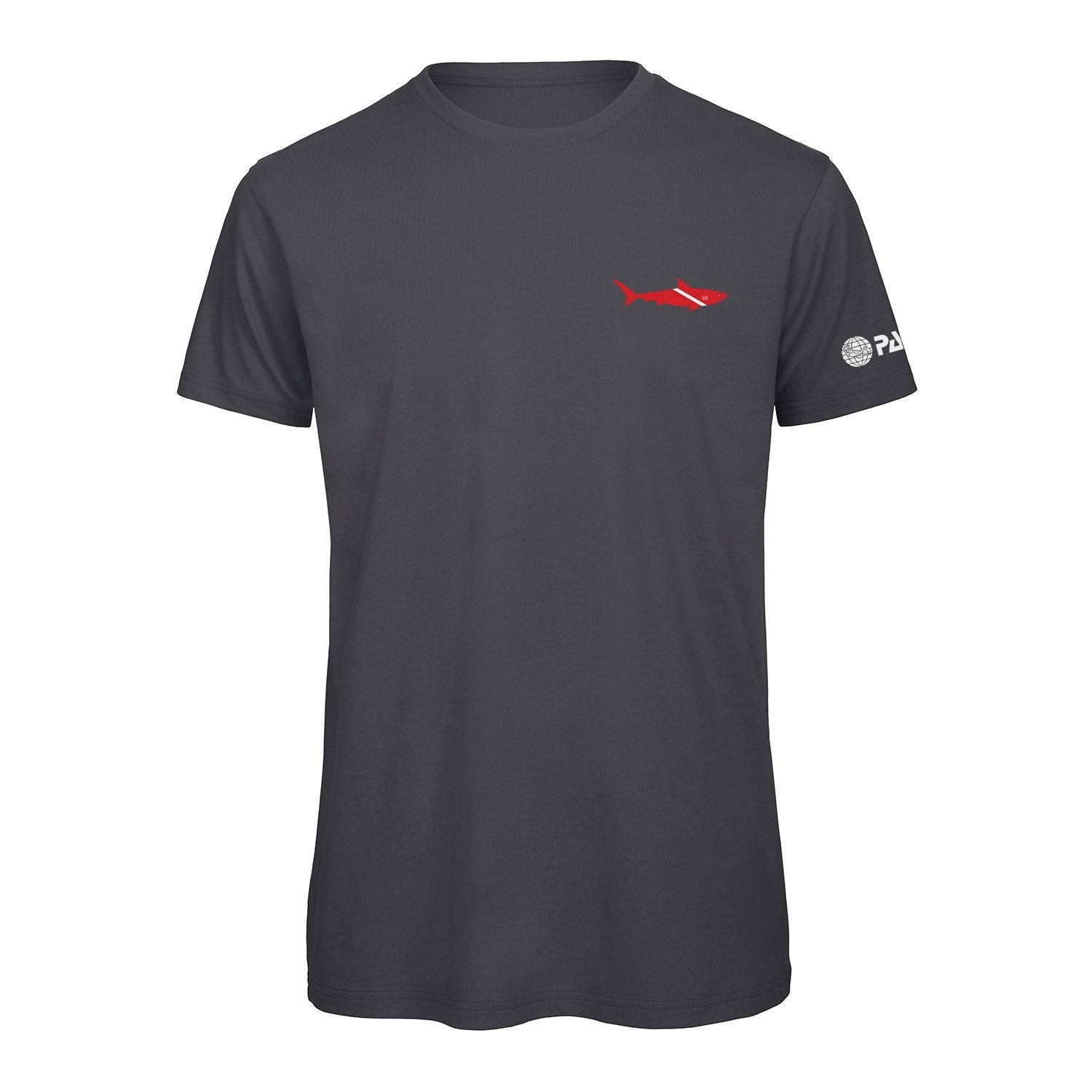 T-Shirt - PADI Dive Flag Shark-Dark Grey