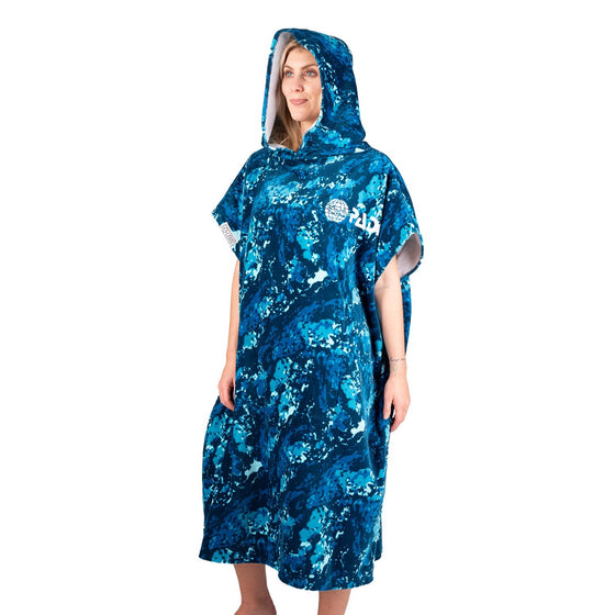 PADI X LEUS Ocean Blue Camo Eco-friendly Poncho