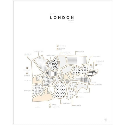 London Pressed Map
