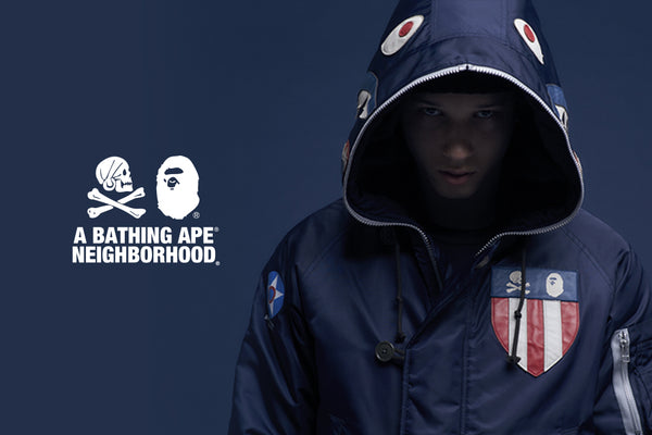 0a2d9c530 A BATHING APE® X NEIGHBORHOOD collaboration