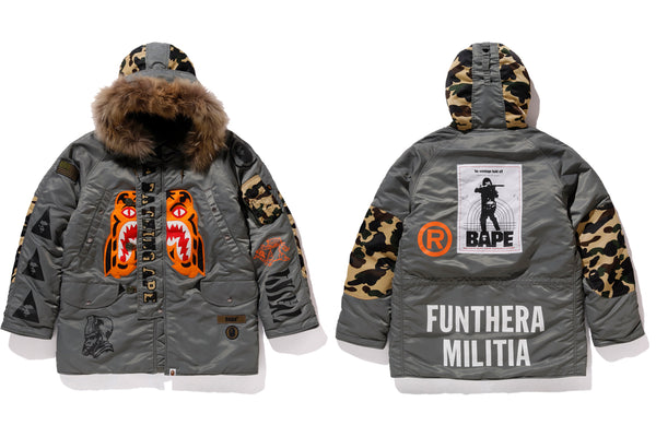 A BATHING APE® X ALPHA INDUSTRIES
