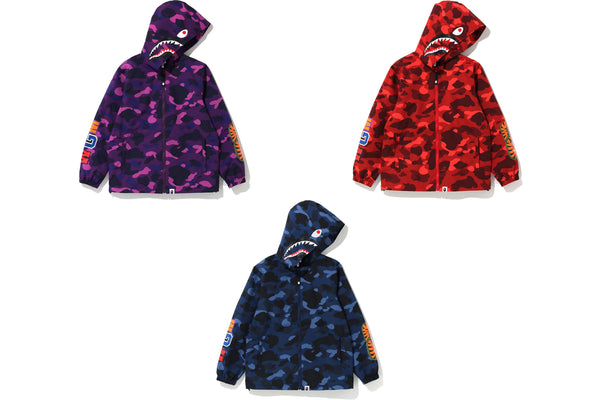 COLOR CAMO SHARK HOODIE JACKET JUNIOR