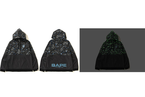 ab39dd6c809 SPACE CAMO WIDE SIDE ZIP PULLOVER HOODIE