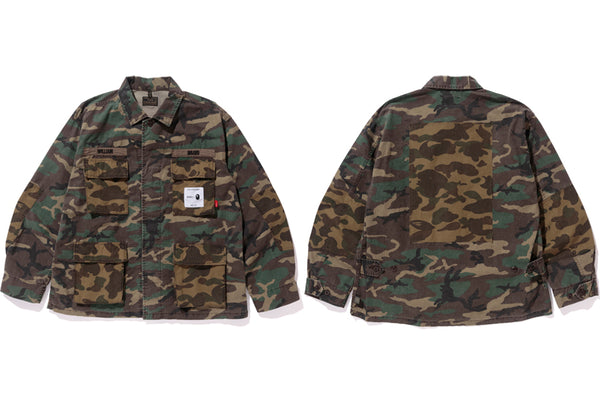 499bc2634029d ... of a jacket, hoodie, t-shirt, and sweat pants utilizing the iconic  logos and camo patterns of each brand and basing them on military styles.