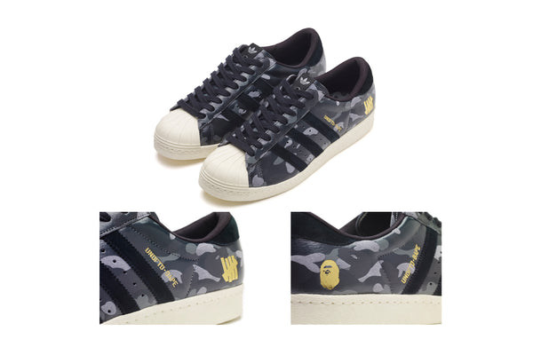 0fee7e20d280 A BATHING APE® x UNDEFEATED x adidas SUPERSTAR 80v