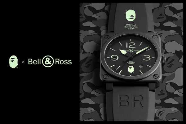 142cd693c35 A collaboration between A BATHING APE® and Bell & Ross will release on  November 10th. Two BAPE CAMO versions of the BR-03. Each watch will be  numbered.