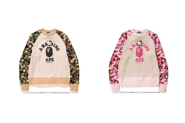 2b61f26ef7 It also features iconic BAPE® CAMO APE HEAD wearing HELLO KITTY S iconic  bow. This special collaboration features both brand s iconic motifs.