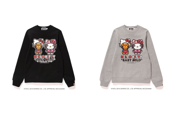 fe8f95f39588 It also features iconic BAPE® CAMO APE HEAD wearing HELLO KITTY S iconic  bow. This special collaboration features both brand s iconic motifs.