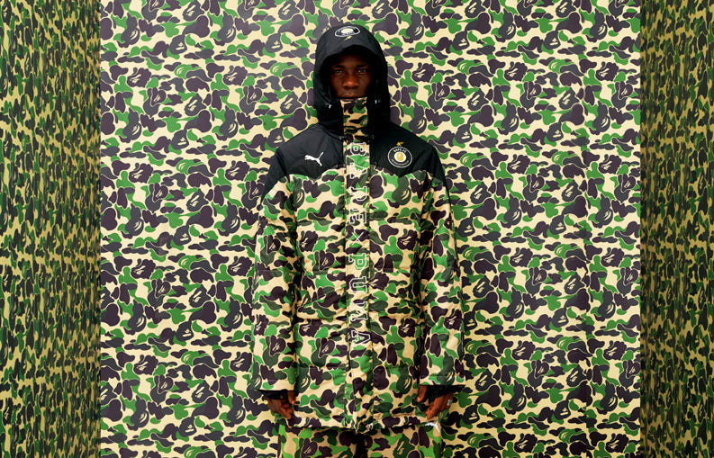 4043e30e631b The collection includes PUMA s performance sports apparel and footwear from  BAPE® iconic BAPE® CAMO and graphic designs were ...