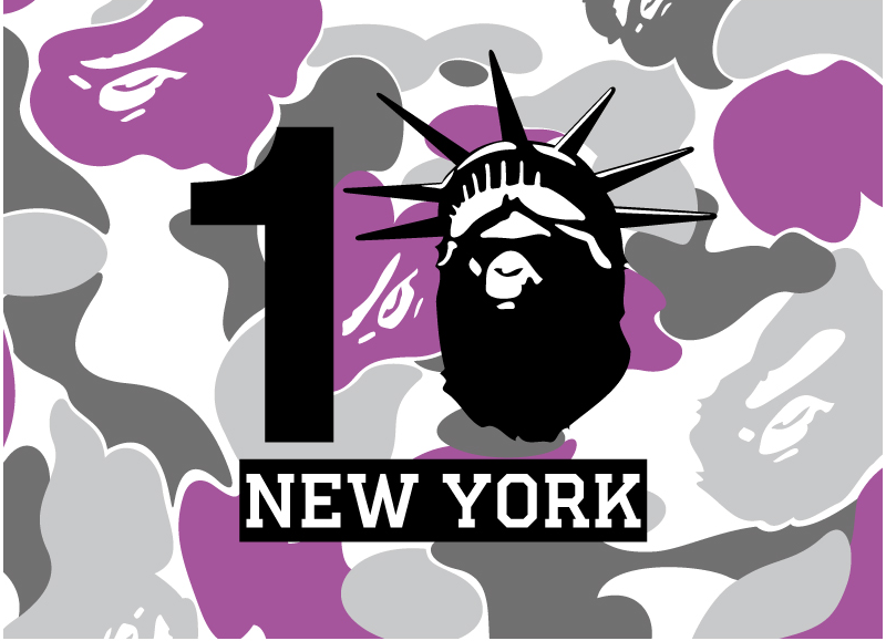 d3448e2633e5 To celebrate the 10th anniversary of the BAPE STORE® NEW YORK - A BATHING  APE® s only US location - the iconic streetwear brand is releasing a ...