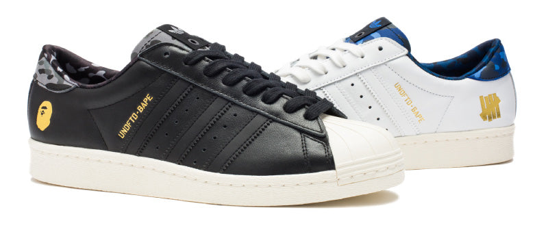 A BATHING APE® x UNDEFEATED x ADIDAS SUPERSTAR 80v |