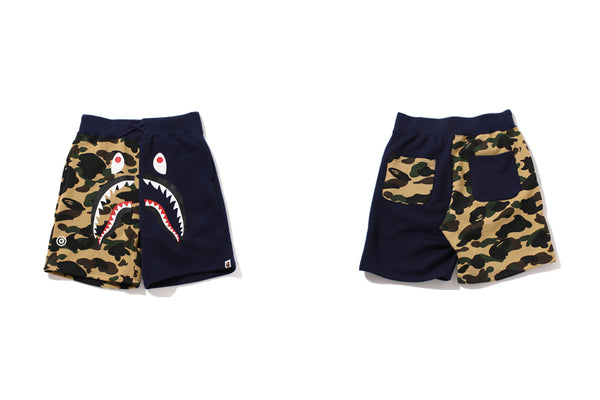 89a6e4b5 NEW RELEASES. . BAPE STORE® NEW YORK and WEB STORE will be releasing the. 1ST  CAMO SHARK SWEAT SHORTS ...