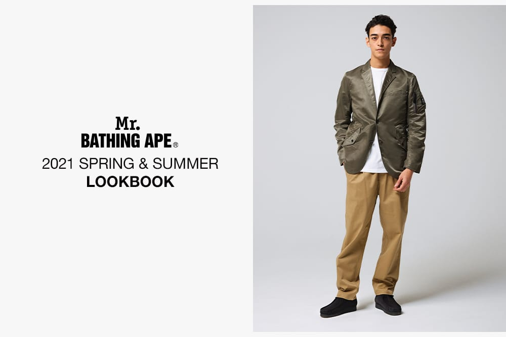 A BATHING APE 2021 SS MR'S LOOKBOOK 1