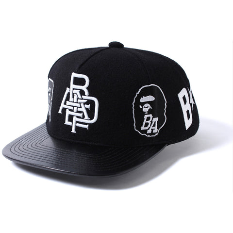 A BATHING APE  WOOL SNAP BACK CAP