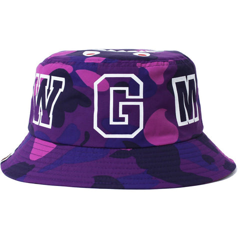 COLOR CAMO SHARK BUCKET HAT