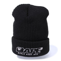 APE EMBROIDERY KNIT CAP M