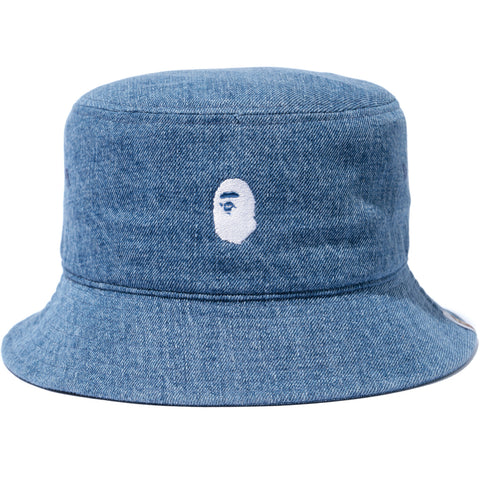 APE HEAD EMBROIDERY BUCKET HAT MENS