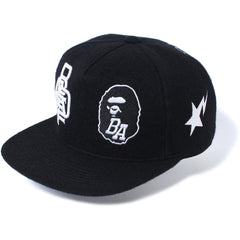 MULTI LOGO SNAP BACK CAP MENS
