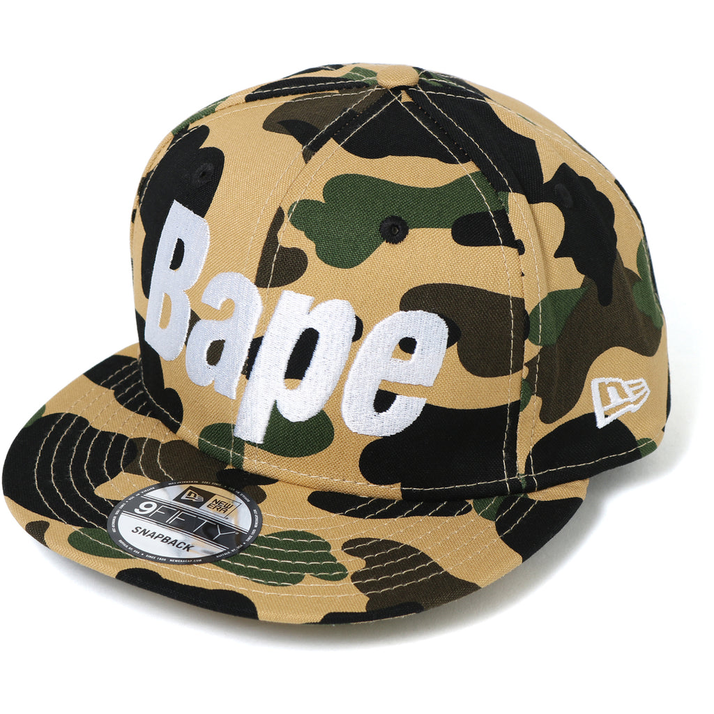 1ST CAMO BAPE NEW ERA SNAP BACK CAP MENS