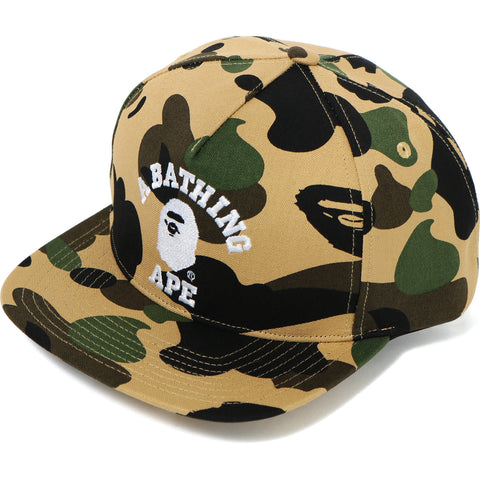 1ST CAMO COLLEGE SNAP BACK CAP MENS