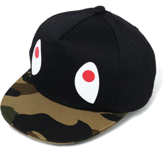 1ST CAMO SHARK SNAP BACK CAP KIDS