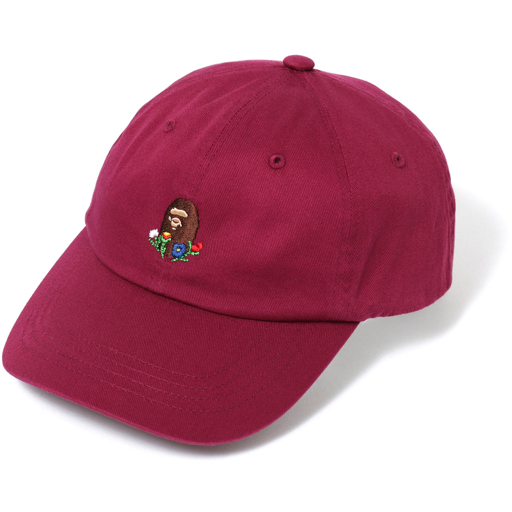 FLOWER EMBROIDERY APE HEAD CAP LADIES