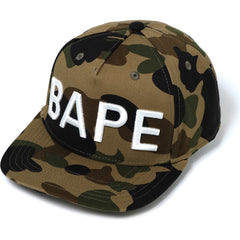 1ST CAMO BAPE SNAP BACK CAP MENS