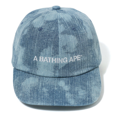 A BATHING APE DENIM PANEL CAP MENS