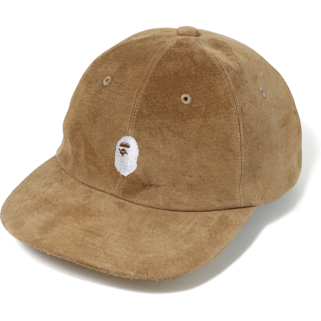 APE HEAD EMBROIDERY SUEDE PANEL CAP MENS