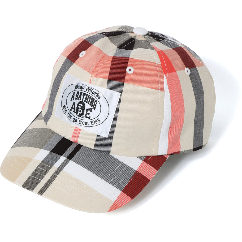 BAPE CHECK PANEL CAP MENS