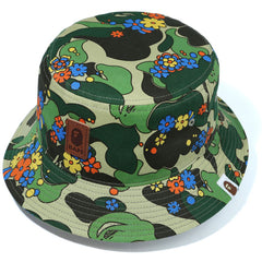 ABC CAMO FLOWER BUCKET HAT LADIES