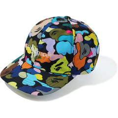 MULTI CAMO EMBROIDERY PANEL CAP MENS
