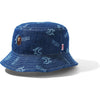SHARK PATTERN DENIM BUCKET HAT LADIES