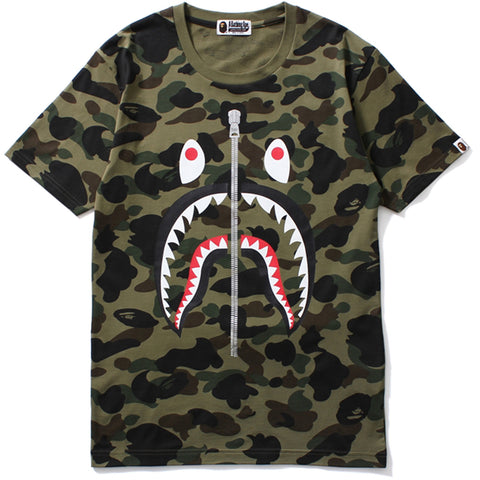 1ST CAMO SHARK BIG TEE /L
