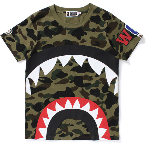 1ST CAMO BIG SHARK TEE LADIES