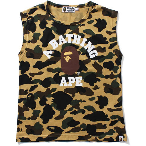 1ST CAMO COLLEGE SLEEVELESS TEE