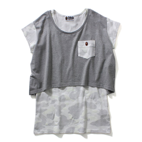 CITY CAMO SLEEVE POCKET SHORT TEE LADIES