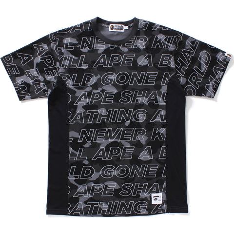 TEXT COLOR CAMO SIDE MESH TEE MENS