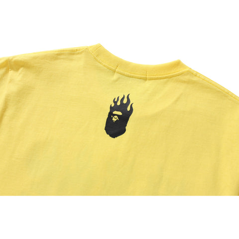 NEON COLOR BAPE FLAME TEE MENS