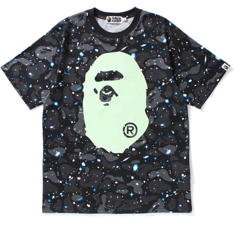 SPACE CAMO BIG APE HEAD TEE MENS