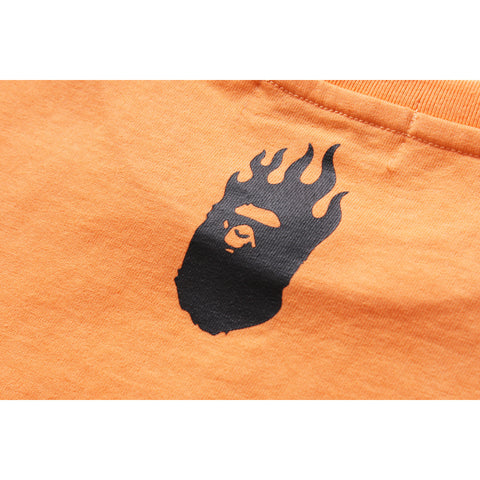 NEON COLOR BAPE FLAME TEE LADIES