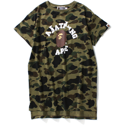 1ST CAMO LONG LENGTH TEE LADIES