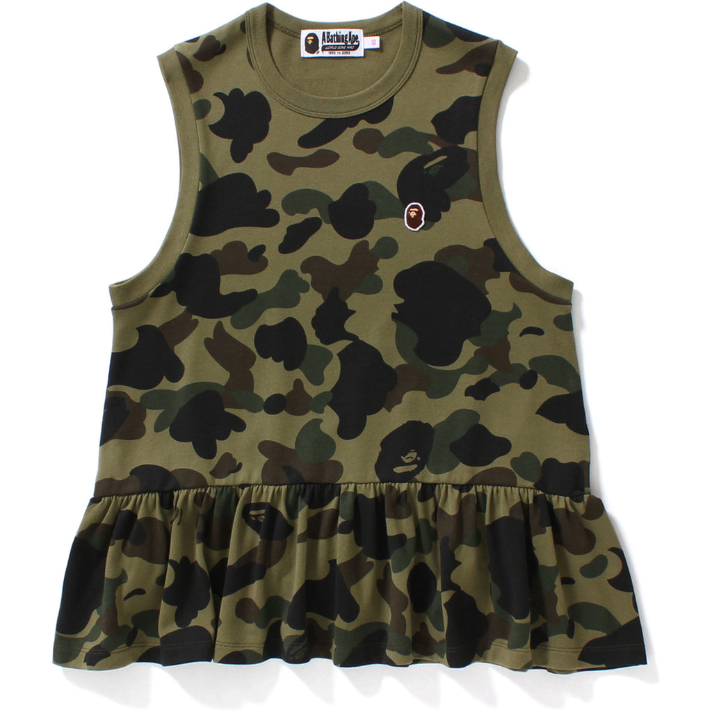 1ST CAMO FLARE SLEEVELESS TEE LADIES