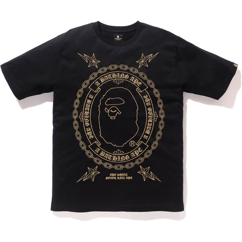 EMBROIDERY TEE M BAPE BLACK MENS