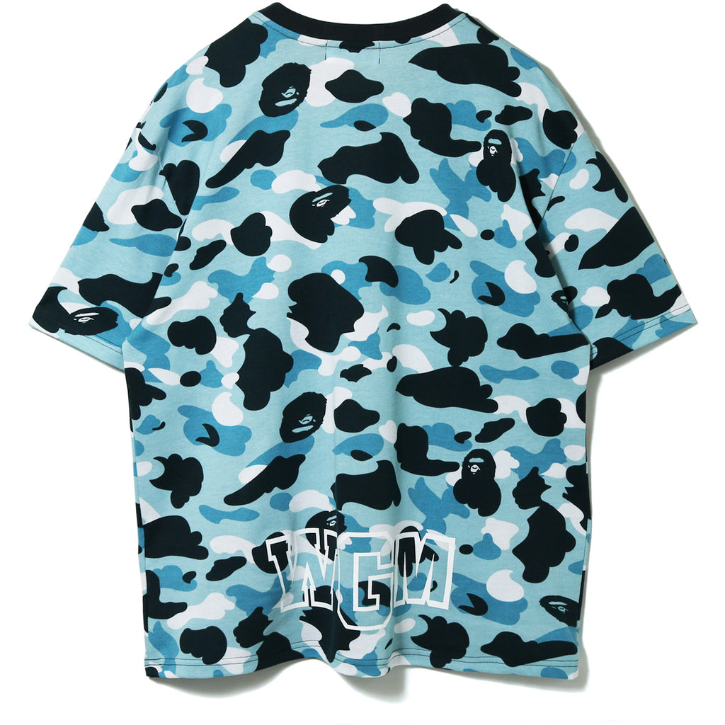 MARINE CAMO SHARK OVERSIZED TEE LADIES