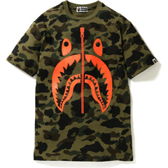 1ST CAMO NEON SHARK BIG TEE LADIES