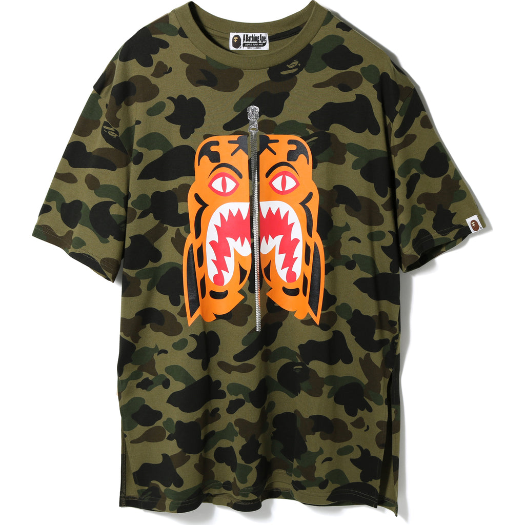 1ST CAMO TIGER SIDE SLIT TEE LADIES