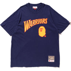 WARRIORS BAPE TEE M