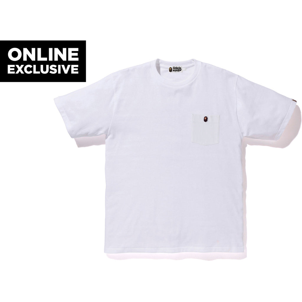 ONE POINT POCKET TEE M BAPEC MENS